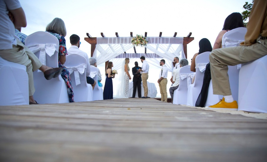 Jamaica wedding photography Ceremony on the beach