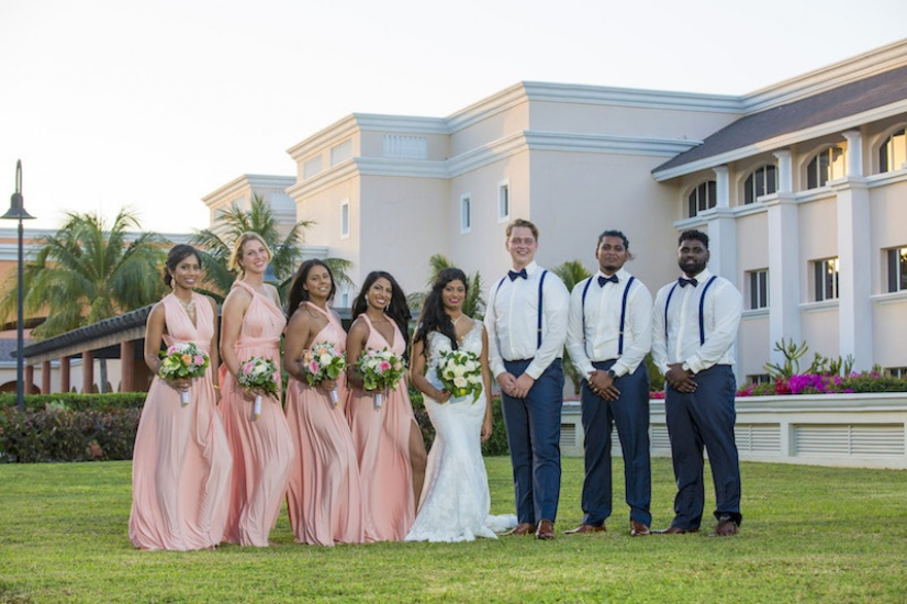 Jamaica Wedding Photos Bride, groom and best friends