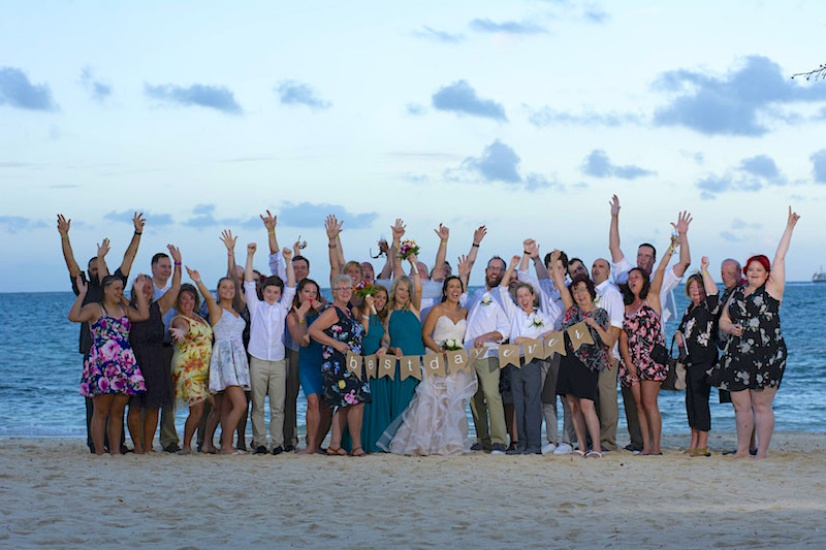 Jamaica Wedding Photography Big group having fun