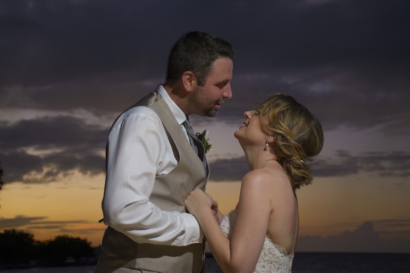 Bride and Groom at Sunset - Wedding photography in Jamaica