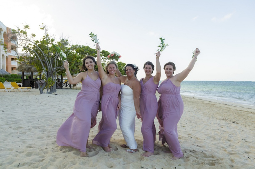 Bride and Bridesmaids - Wedding Photographers in Jamaica