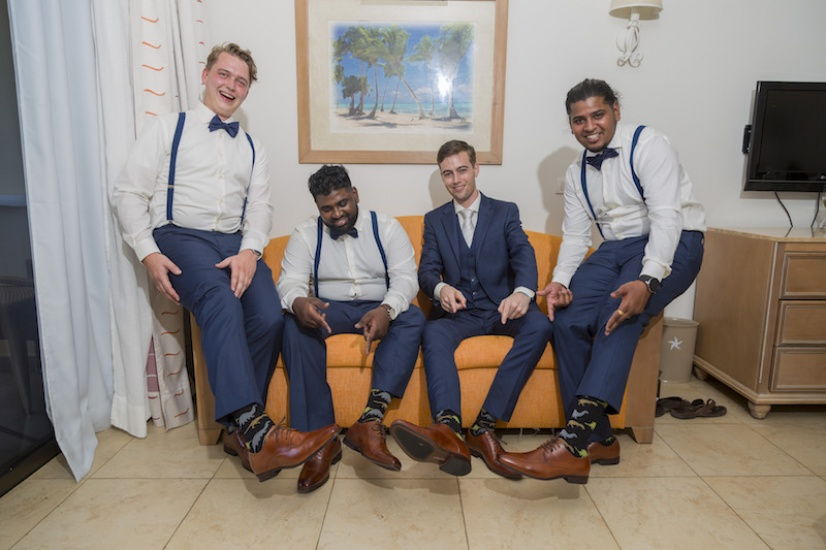 The guys are ready - Wedding Photographers in Jamaica