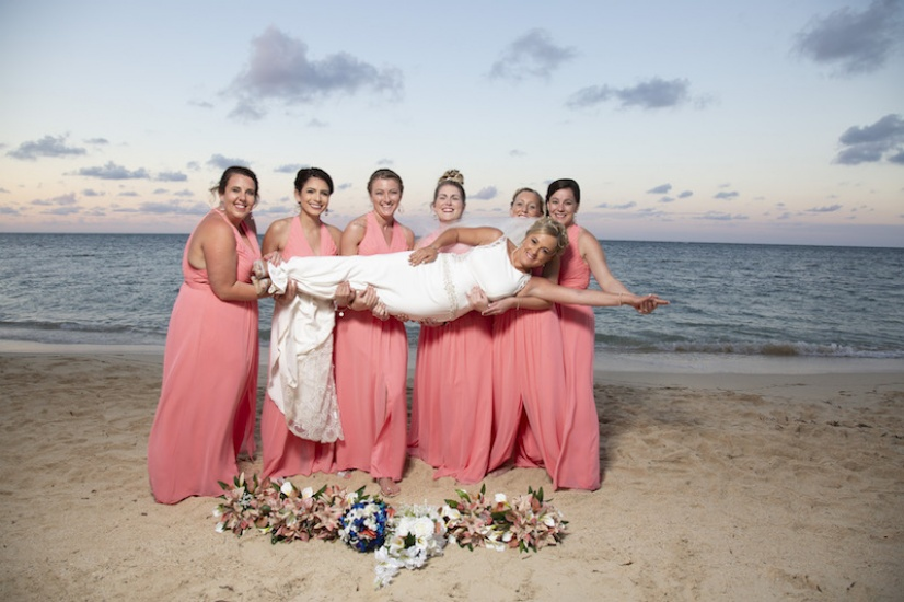 Bride and her best friends - Wedding Photographers in Jamaica