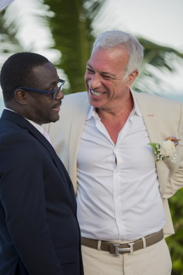 Groom and Priest - Wedding Photographers in Jamaica
