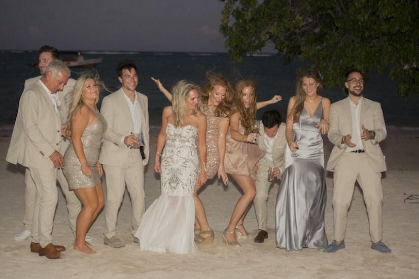 Beach dancing - Wedding Photographers in Jamaica