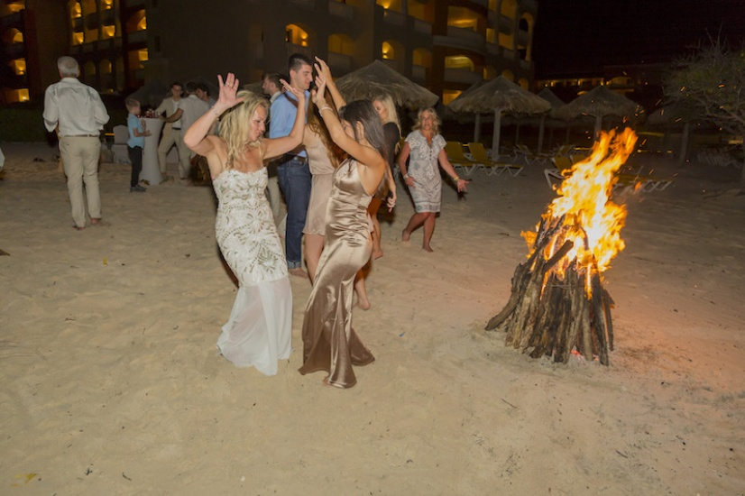 Dancing on the beach - Wedding Photographers in Jamaica